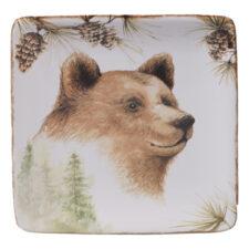 """Тарелка пирожковая квадратная Certified Int. """"Заповедный лес.Медведь"""" 15см"""