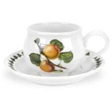"Чашка для завтрака с блюдцем Portmeirion ""Помона.Абрикос"" 270мл"