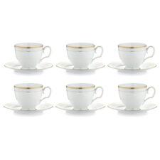 """Набор из 6 чашек чайных с блюдцами Noritake """"Хэмпшир, золотой кант"""" 250мл"""