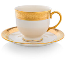 """Чашка чайная с блюдцем Lenox """"Вестчестер"""" 200мл"""