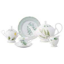 """Сервиз чайный Noritake """"Английские травы"""" на 6 персон 21 предмет"""