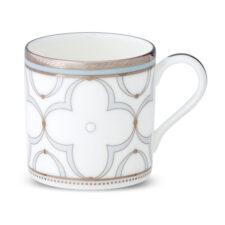 """Чашка кофейная Noritake """"Трефолио, платиновый кант"""" 90мл"""