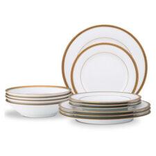 Сервиз столовый Noritake Шарлотта Голд на 4 персоны 12 предметов