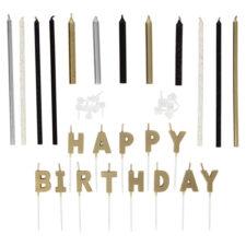 """Свечи для торта Wilton """"С Днем Рождения"""" (металлик), 25 шт"""
