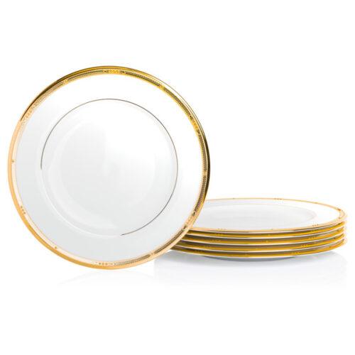 "Набор тарелок обеденных Noritake ""Чатлайн, золотой кант"" 28см, 6 шт"