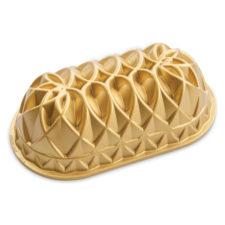 """Форма для выпечки Nordic Ware """"Юбилейный пирог"""" овальная 1,4л, литой алюминий (золотая)"""