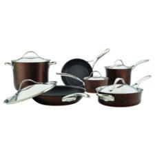 "Набор кухонной посуды из 11 предметов Anolon ""Nouvelle Copper Luxe Sable"""