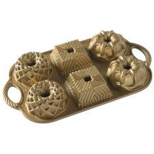"""Форма для выпечки Nordic Ware """"Геометрия"""",  0,8л. литой алюминий (золотая)"""