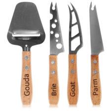 """Набор мини ножей для всех видов сыра Boska """"Женева"""" 15см, 4 шт, ручка из бука, сталь, п/у"""