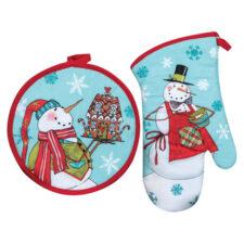 """Набор из варежки и прихватки Kay Dee Designs """"Рождественская история.Снеговик"""" 13х33см, хлопок, 20см"""
