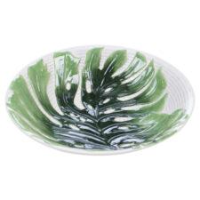 """Блюдо круглое 3D Certified Int. """"Пальмовые листья"""" 33см, (рельеф)"""