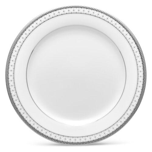 """Тарелка закусочная Noritake """"Рочестер,платиновый кант"""" 21см"""