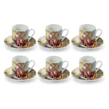 """Набор кофейных чашек с блюдцами """"Сюрприз.Дарю радость"""", на 6 персон, п/к"""