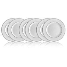 """Набор из 6 тарелок закусочных Lenox """"Федеральный,платиновый кант"""" 20,5см"""