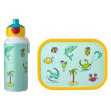 Набор детский ланч-бокс и бутылка для воды Mepal 400мл+750мл (акула)