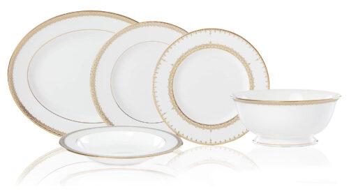 Сервиз столовый Lenox Золотые кружева на 6 персон 20 предметов, фарфор