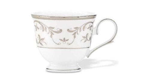 Набор чашек чайных с блюдцами Lenox Чистый опал, платина 170мл, фарфор, 6шт