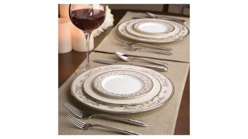 Сервиз столовый Lenox Чистый опал, платина на 6 персон 20 предметов, фарфор