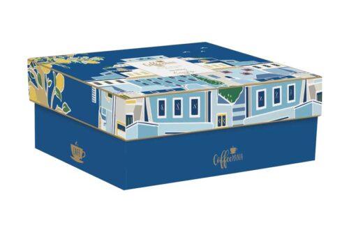 Набор из 2-х чашек с блюдцами Синее море в подарочной упаковке