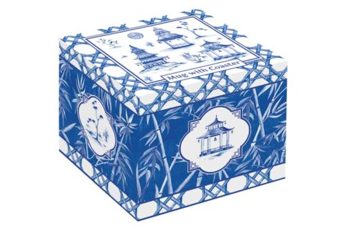 Кружка (бамбук) с крышкой/подставкой из акации Пагода в подарочной упаковке