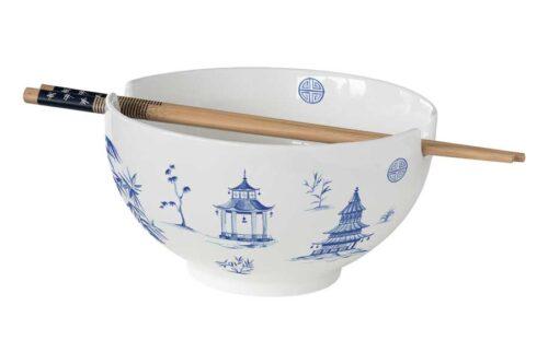 Суповая чашка с палочками для еды Пагода в подарочной упаковке