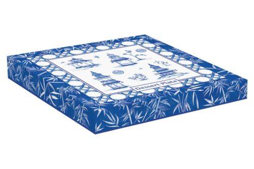 Тарелка десертная 19 см Пагода в подарочной упаковке