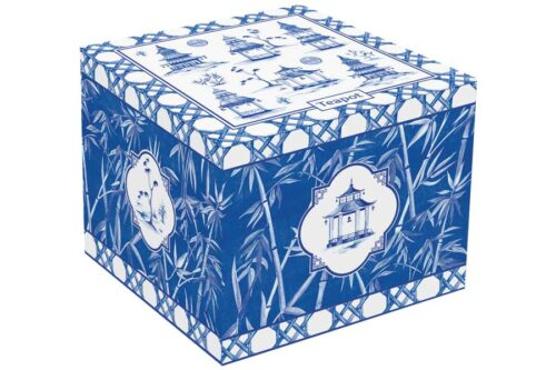 Чайник на подставке из акации Пагода в подарочной упаковке