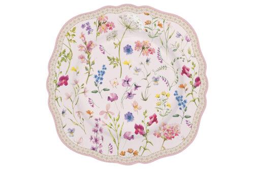Тарелка десертная 20 см Цветочная симфония в подарочной упаковке