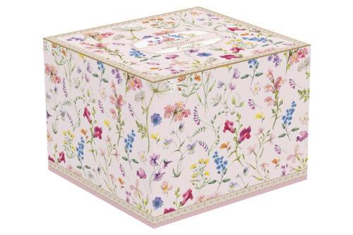 Тарелка десертная Цветочная симфония в подарочной упаковке